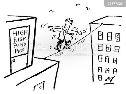 high risk fund mgr cartoon