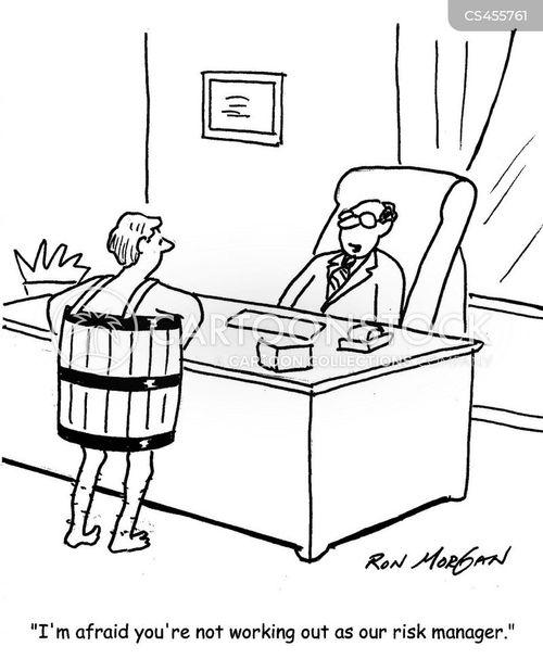 business risk cartoon