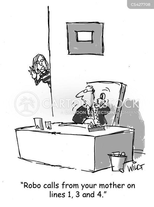 robocalls cartoon