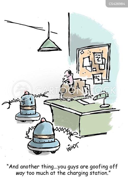 charging stations cartoon
