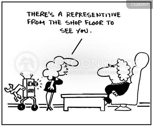 shop floors cartoon