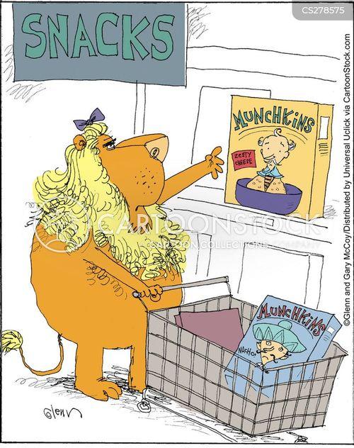 snack food cartoon