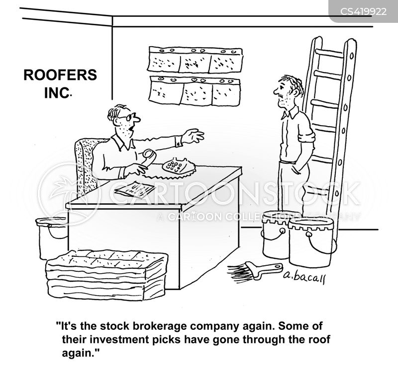 roofing company cartoon