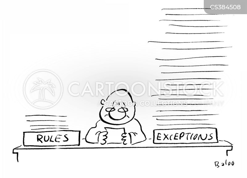 exceptions cartoon