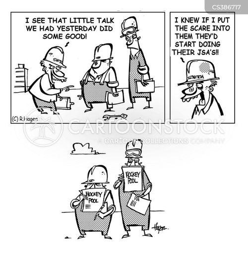 worksite cartoon