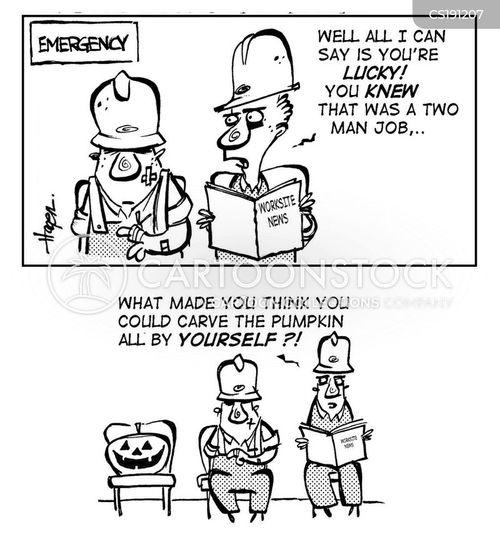 hardhat cartoon