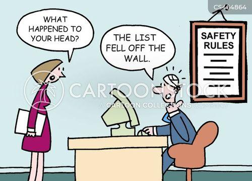 workplace injuries cartoon