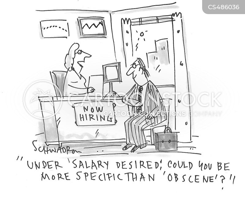 high wages cartoon