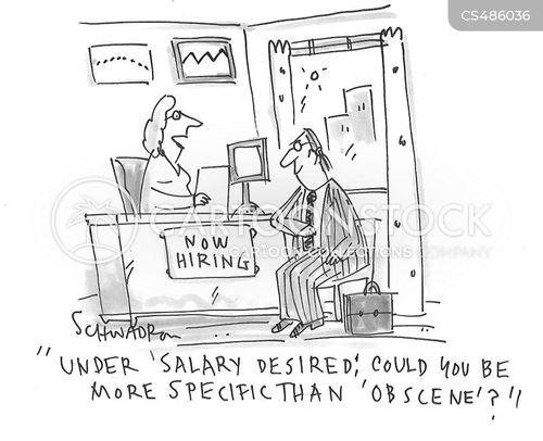 obscene salary cartoon