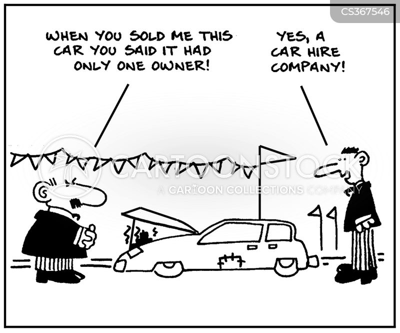 car hire cartoon