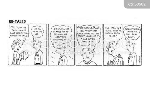 guilty conscious cartoon