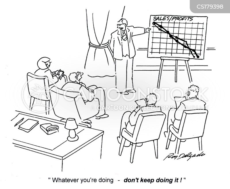 sales strategies cartoon