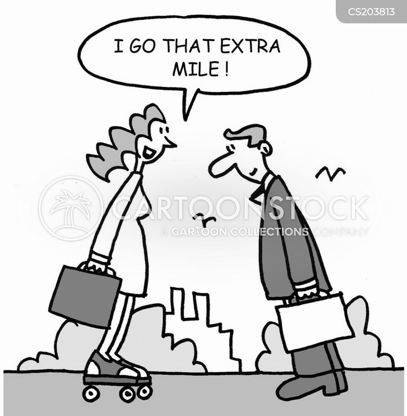 extra mile cartoon