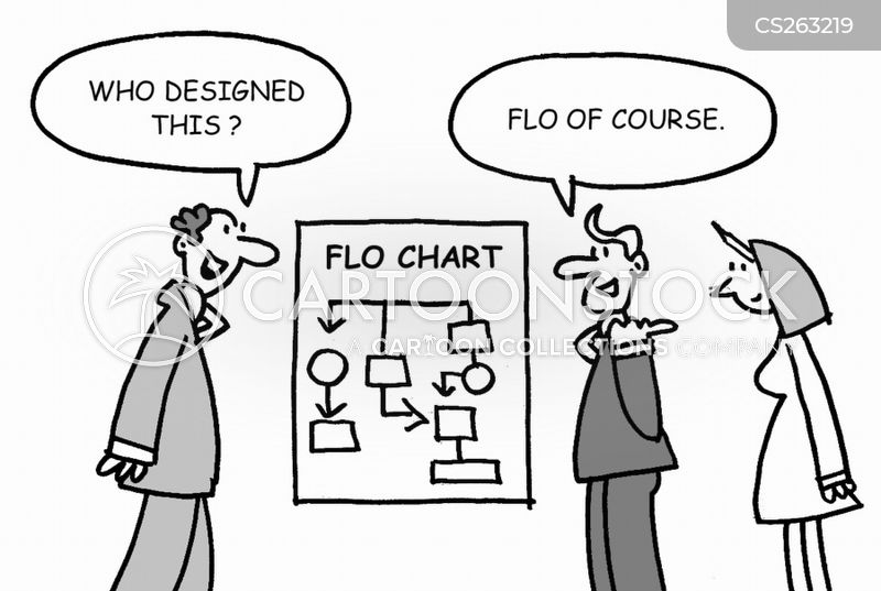 flow diagram cartoon