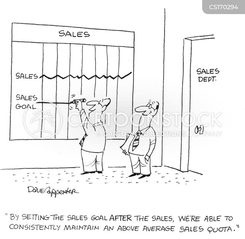 Sales Quotas Cartoons and Comics - funny pictures from CartoonStock