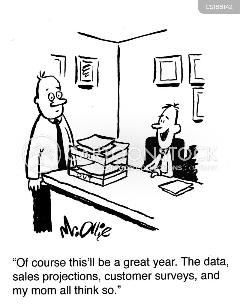 data projection cartoon