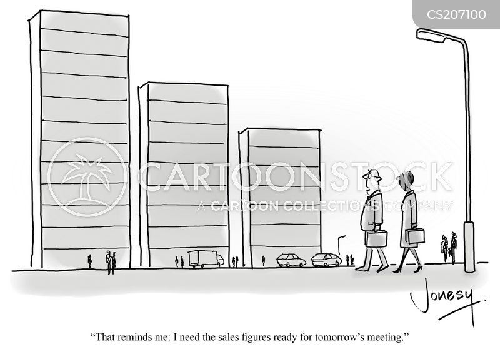 decline in sales cartoon