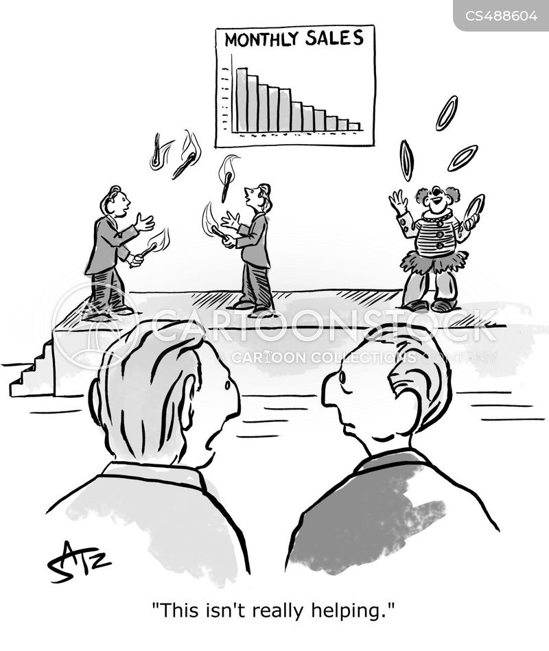 distraction technique cartoon