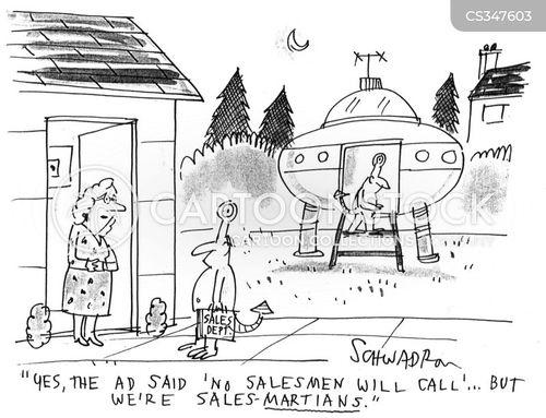 door-to-door salesmen cartoon