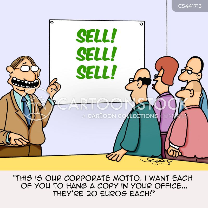 corporate motto cartoon