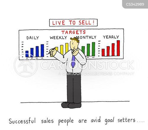 Salesman Goal Setting Goal Setting Cartoon 4 of 7