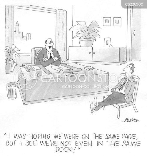 coordination cartoon