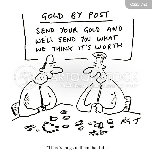 cash for gold cartoon
