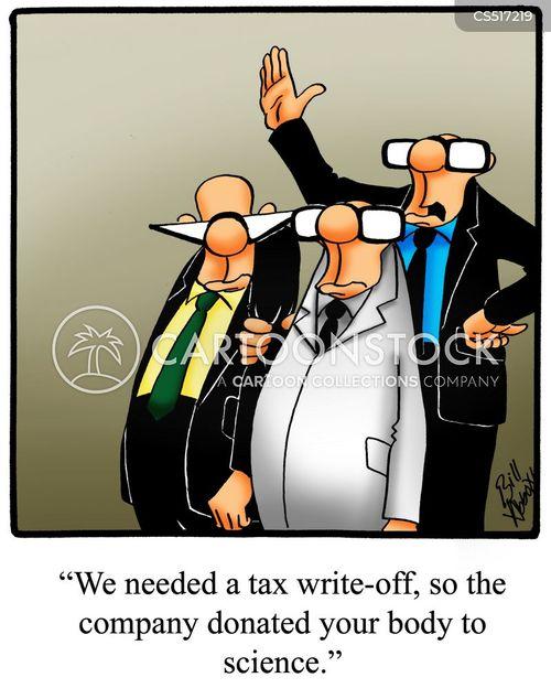 tax write off cartoon