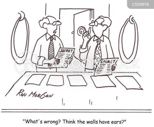 secret information cartoon