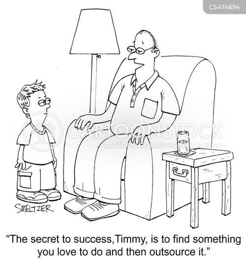secret to success cartoon