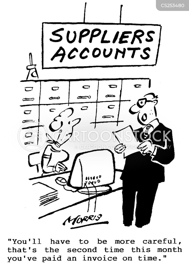 Suppliers Accounts Cartoons And Comics Funny Pictures
