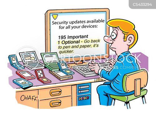 anti-virus software cartoon