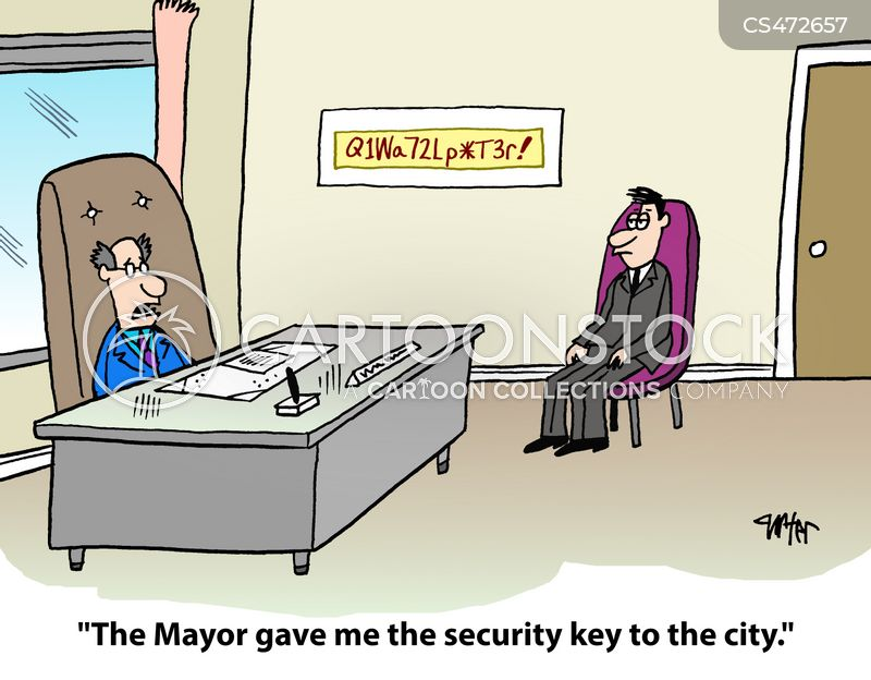 Security Codes Cartoons and Comics - funny pictures from