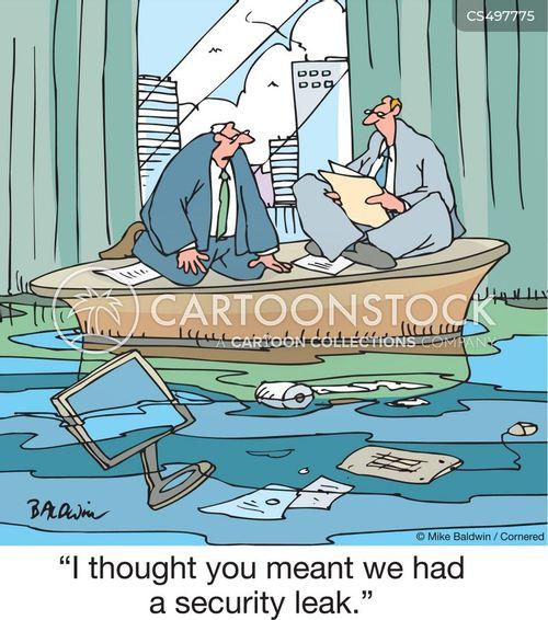 information leak cartoon