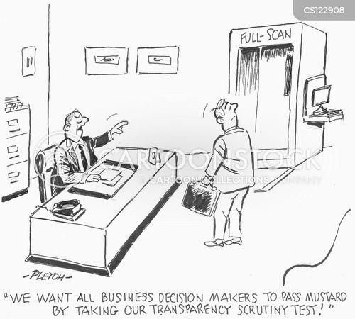 business decision cartoon
