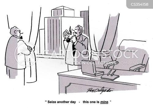seizing the day cartoon