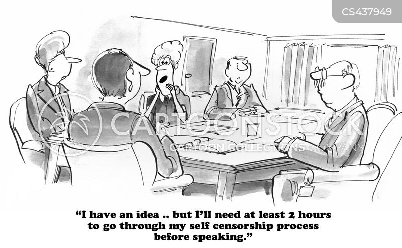 self censorship cartoon