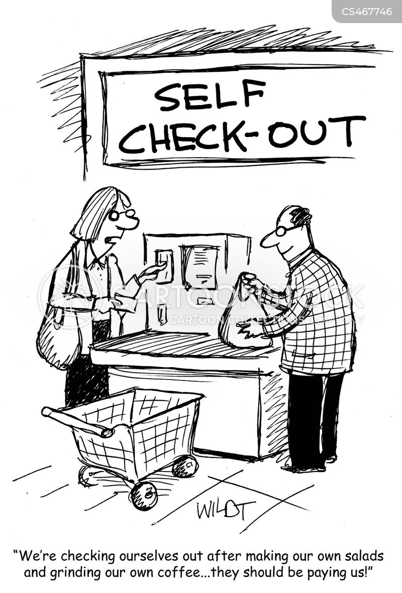 Self Checkout Cartoons And Comics