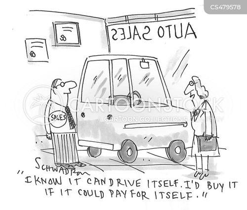 autonomous vehicle cartoon
