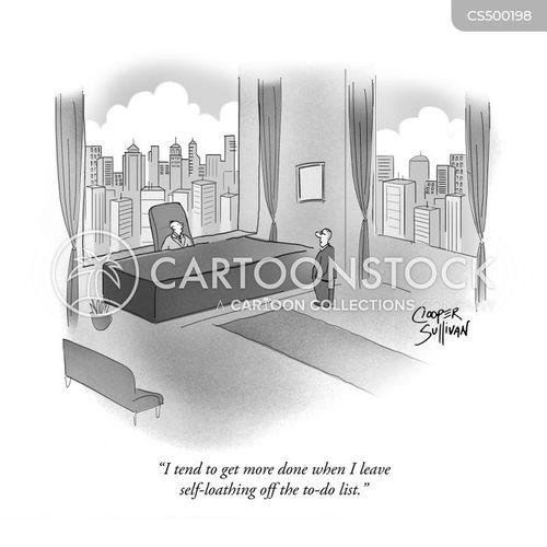 self-loathing cartoon