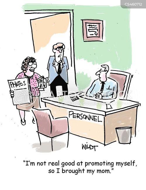 self-promotion cartoon
