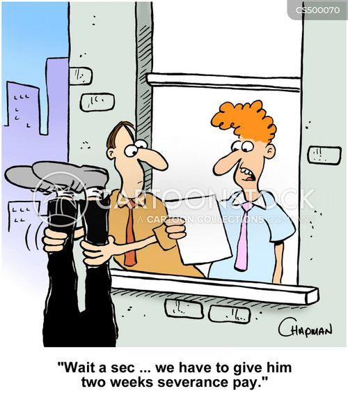 severance payments cartoon