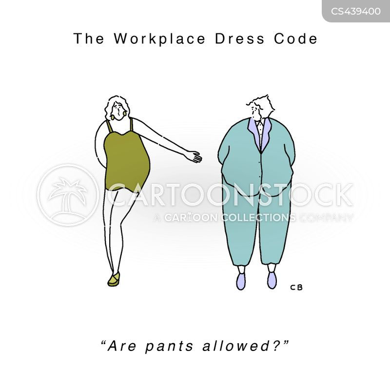 Inappropriate dress the workplace clipart