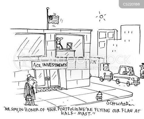 half-mast cartoon