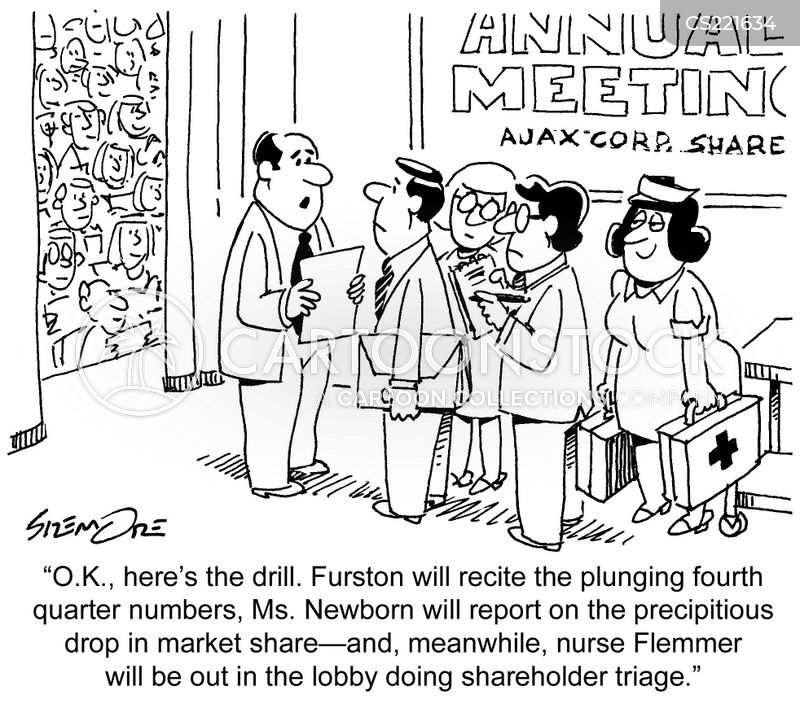 shareholder meetings cartoon