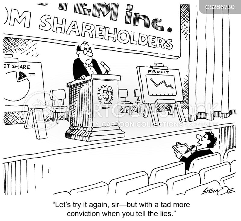 annual reports cartoon