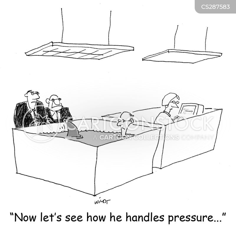pressure situations cartoon