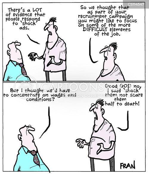 recruitment drives cartoon