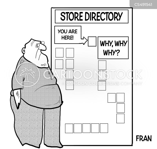 store directory cartoon
