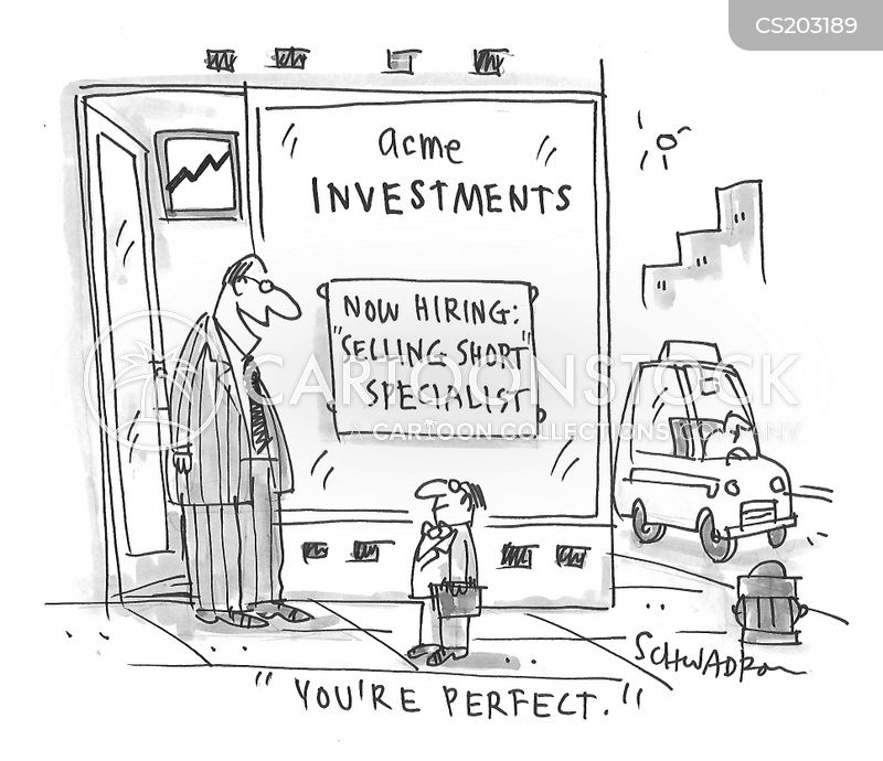 short selling cartoon